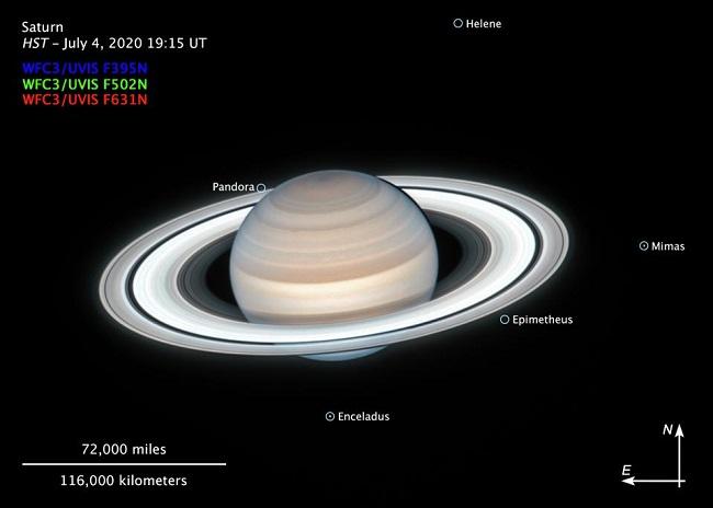Foto de Saturno tirada pelo telescópio Hubble/NASA/Reprodução