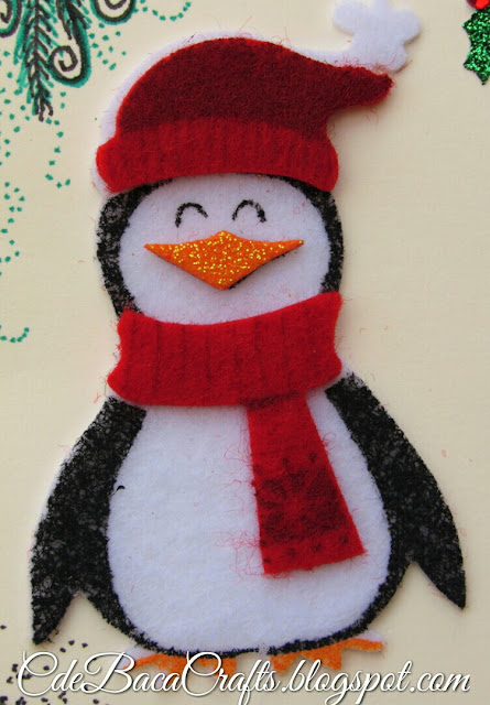 Penguin Christmas Card by CdeBaca Crafts.