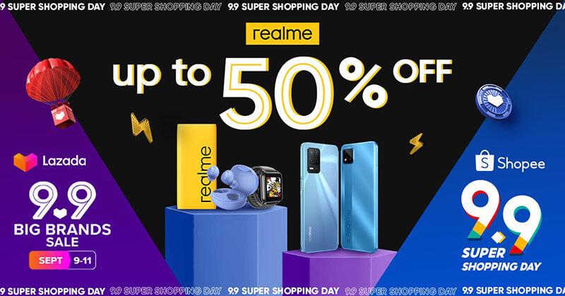 realme reveals Shopee and Lazada 9.9 deals