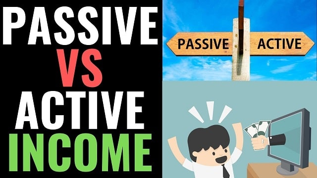 passive vs active income different revenue streams