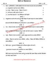 Pedagogy of Hindi [हिंदी का शिक्षाशास्त्र] B.Ed Question Paper