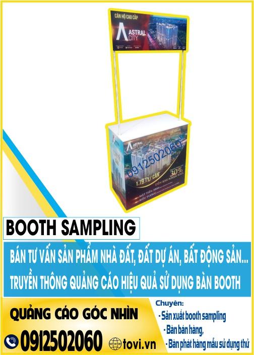Sản xuất booth sampling bằng sắt