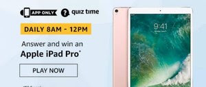 Amazon Quiz 26 November 2019 Answer Win - Apple iPad Pro