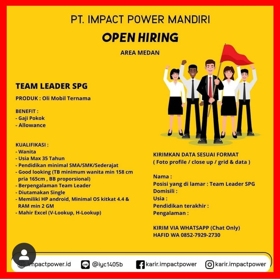 Lowongan Kerja Sma Smk Medan Juli 2020 Di Pt Impact Power Mandiri Lowongan Kerja Medan Terbaru Tahun 2021