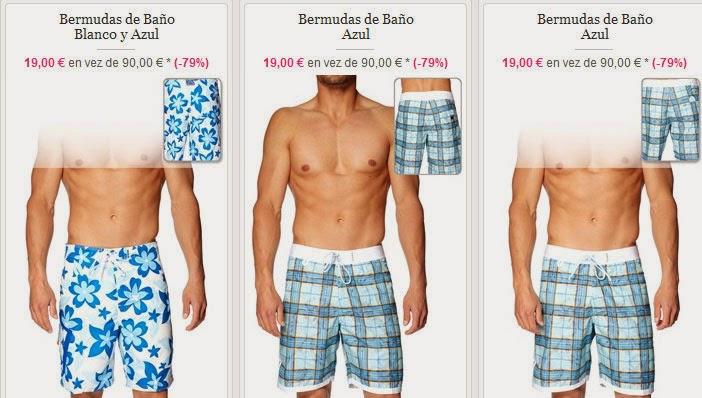 Bermudas de baño para hombre por 19 euros