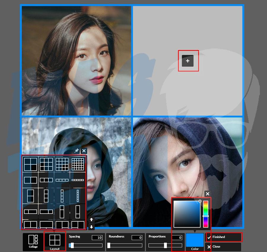 4 cara menggabungkan foto dengan