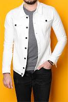 Beyaz kot ceket kombin