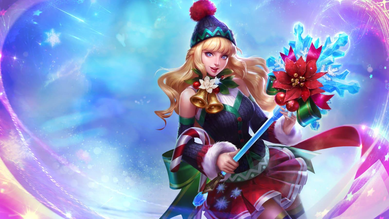 Wallpaper Odette Christmas Carnival Skin Mobile Legends HD for PC
