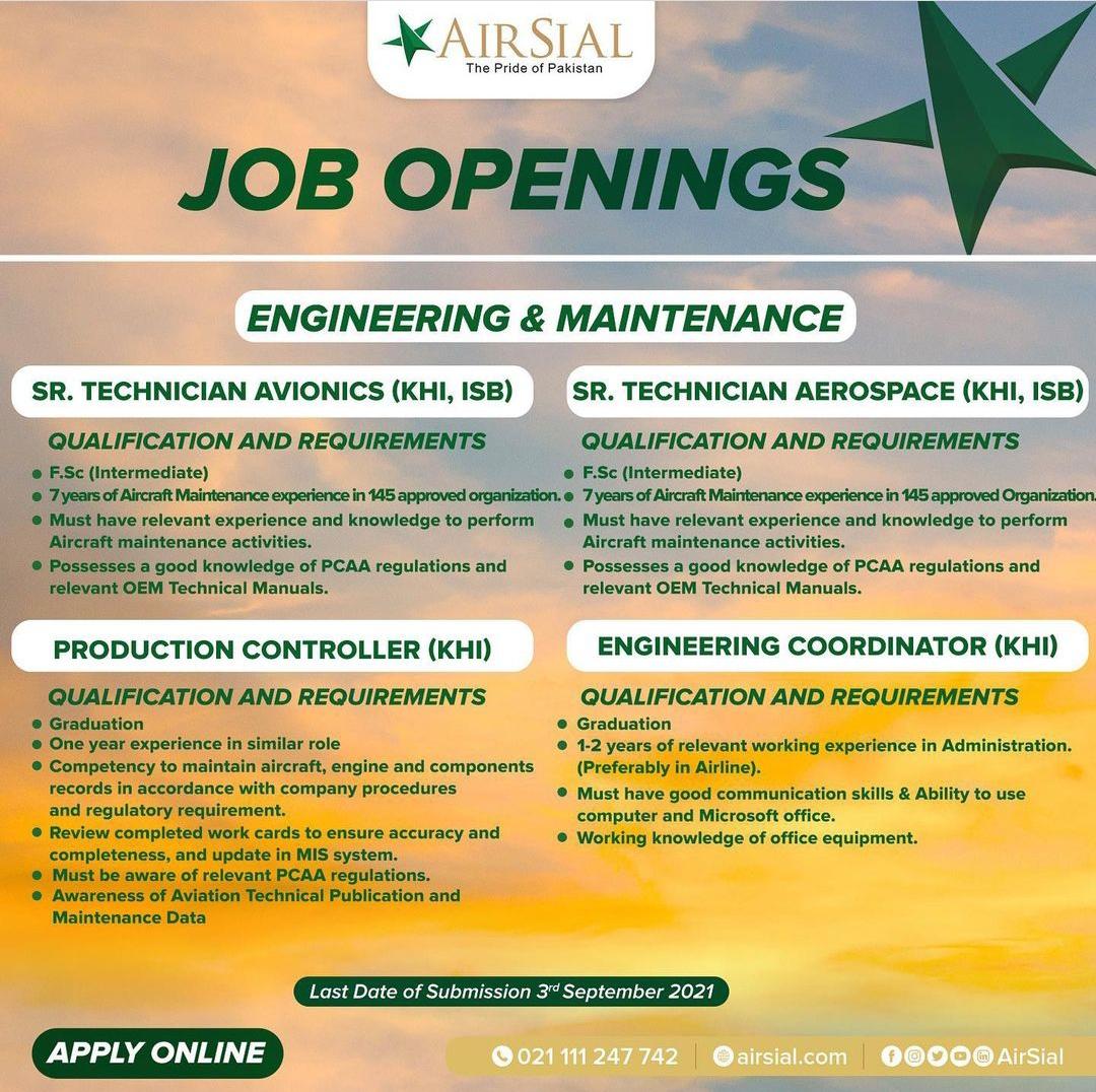 Air Line Jobs | AirSial Jobs Online Apply | Air Sial Job | Airport Jobs | International Airport Jobs
