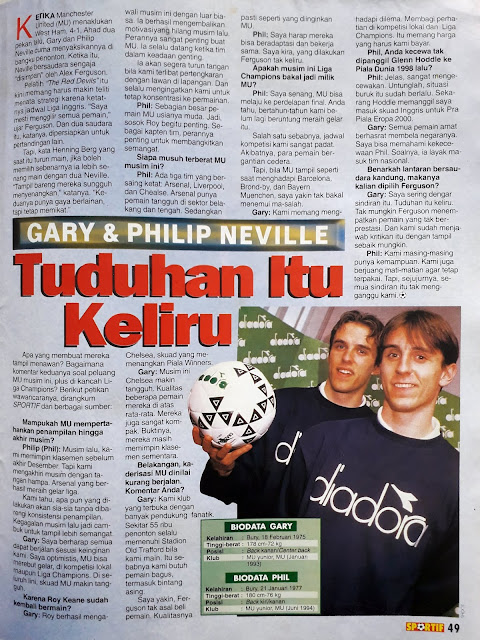 GARY & PHILIP NEVILLE TUDUHAN ITU KELIRU