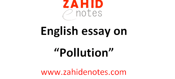 Pollution essay for 2nd year with quotations