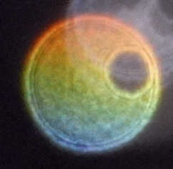gradient color orb with hole