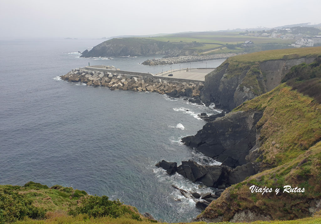 Puerrto de Vega, Senda costera naviega, Asturias
