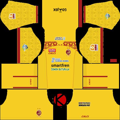 b2beb80c86b Sriwijaya FC 2018 Kit - Dream League Soccer Kits - Kuchalana