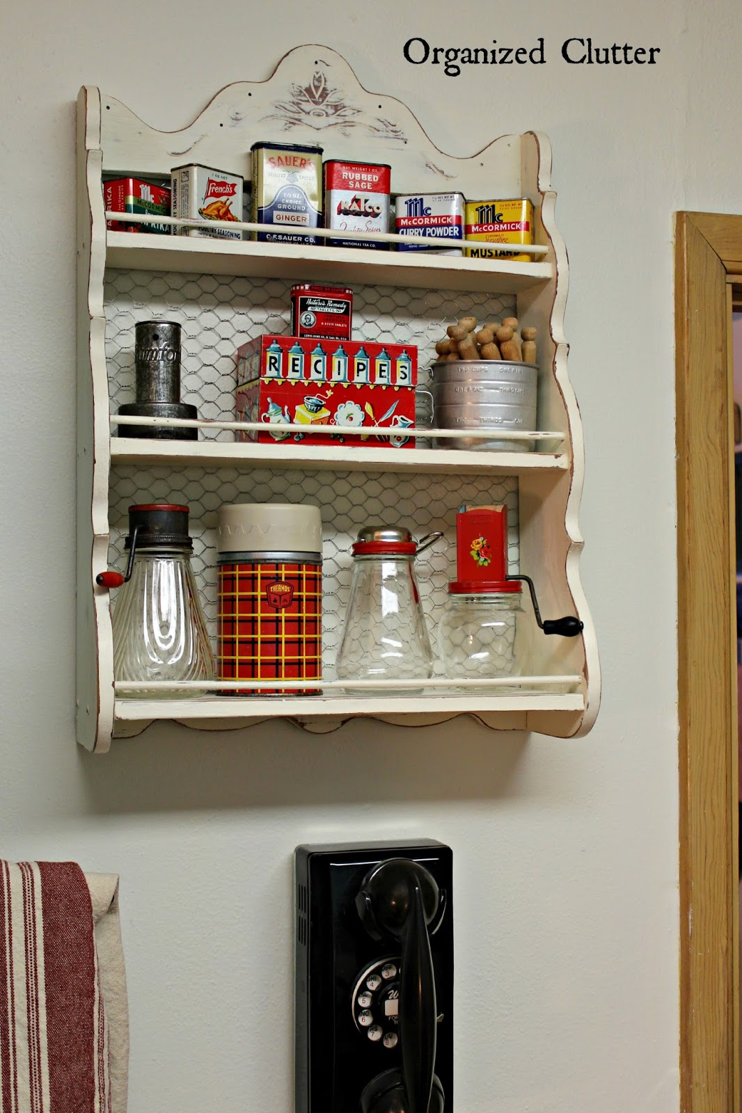 Upcycled Vintage Spice Rack