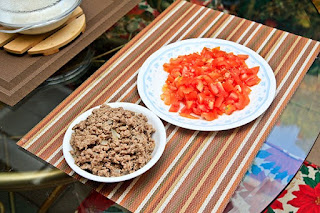 Chopped Tomatoes, Ground Beef, Old Jack's Burger™ Trial Night with Friends