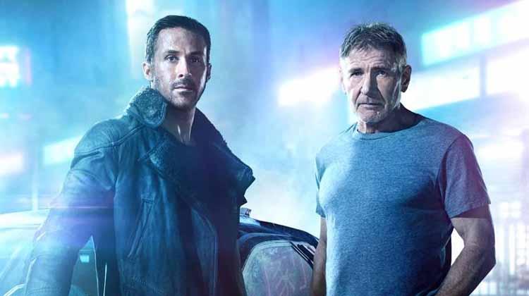 Ryan Gosling y Harrison Ford en Blade Runner 2049