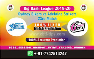 Dream 11 Team Prediction Adelaide vs Sixer 23rd Match BBL T20 Captain & Vice Captain