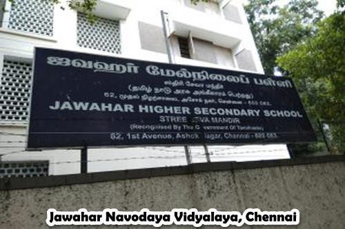 Jawahar Navodaya Vidyalaya, Chennai