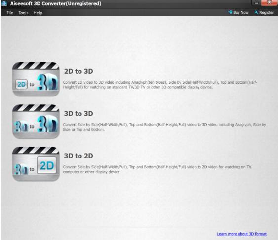 تحميل برنامج تحويل الفيديو من 2D-3D مجانا Aiseeoft 3D Converter