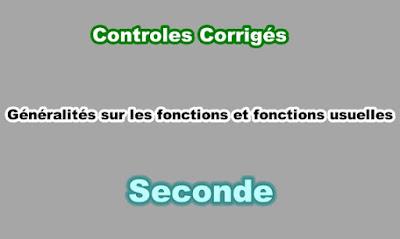 Controles Corrigés Fonctions Usuelles Seconde PDF