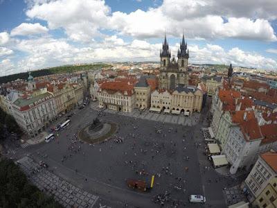 PLAZA VIEJA DE PRAGA desde lo alto de la torre del ayuntamiento