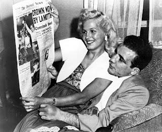 El verdadero Jake LaMotta junto a su mujer Vicky