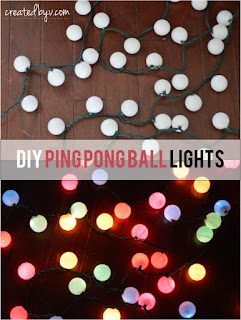 Ping Pong Ball Light Decoration