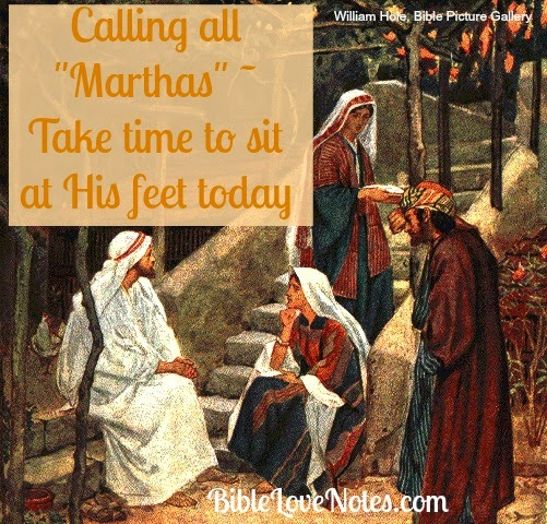 Mary and Martha, Luke 10:38-42, sitting at Jesus feet