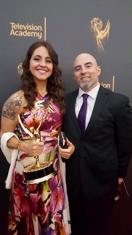 Cristina Himiob junto a Michael O'Brien.