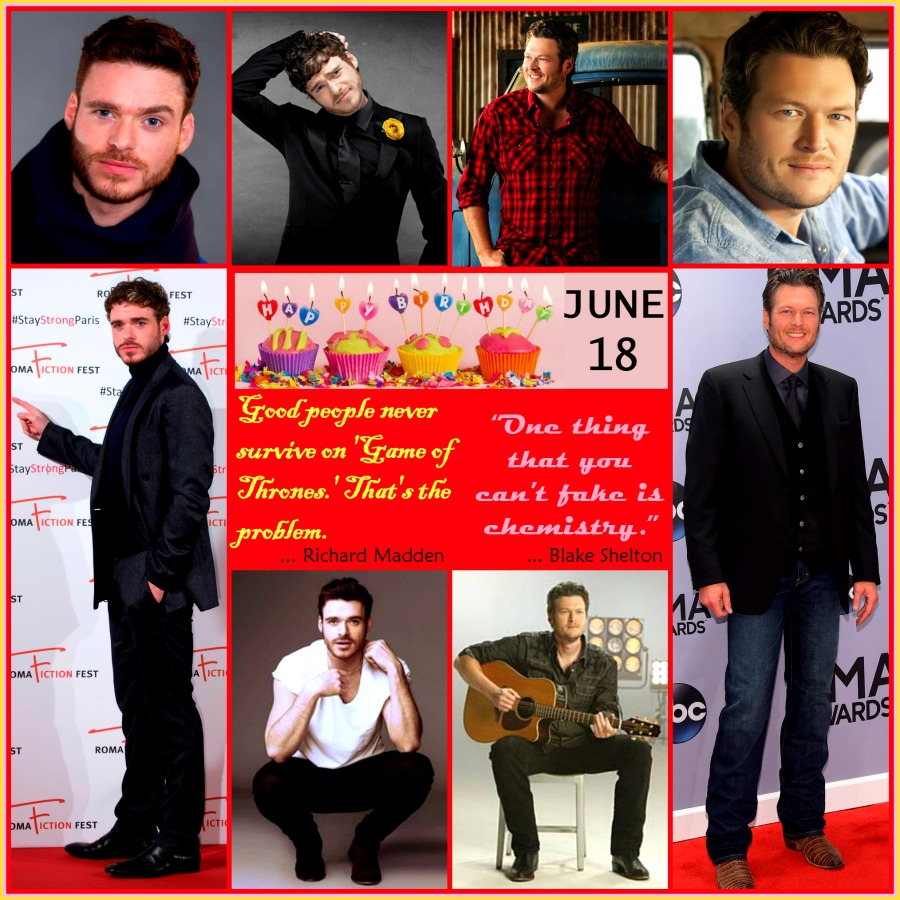Happy Birthday Blake Shelton And Richard Madden