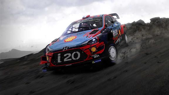 WRC 9 dirt racing in action