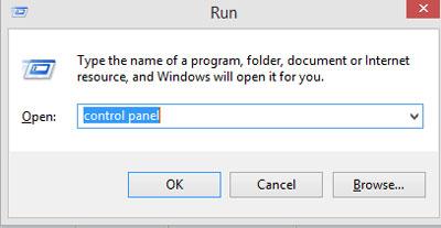 run control panel