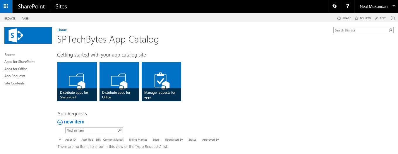 Create an app catalog