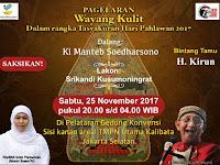 Malam Ini, Pagelaran Wayang Kulit Hari Pahlawan bersama Ki Manteb Soedharsono