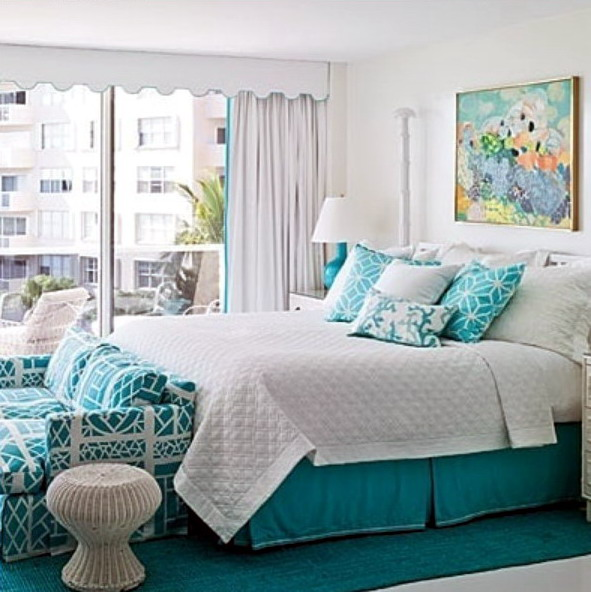 desain interior kamar tidur warna biru