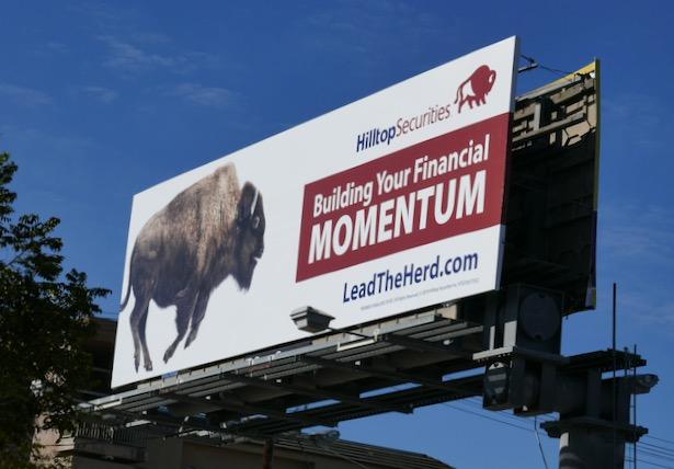 Hilltop Securities momentum Bison bilboard