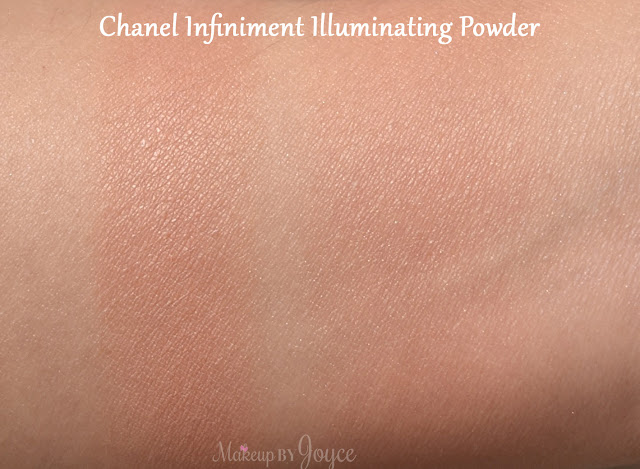Chanel Infiniment Illuminating Powder Swatch