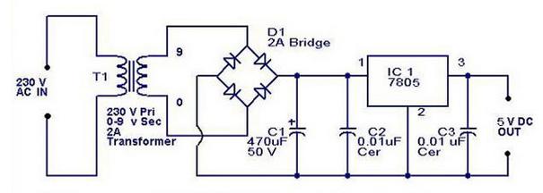 IC 7805 Untuk Rangkaian Regulator Penentu Voltase Tegangan
