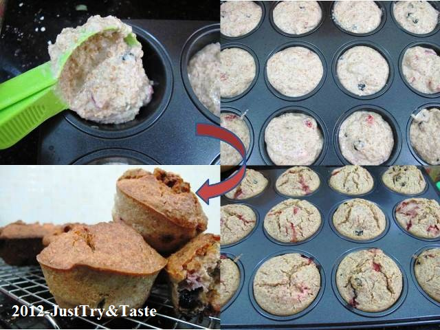 Resep Muffin Blueberry & Strawberry: You Are What You Eat