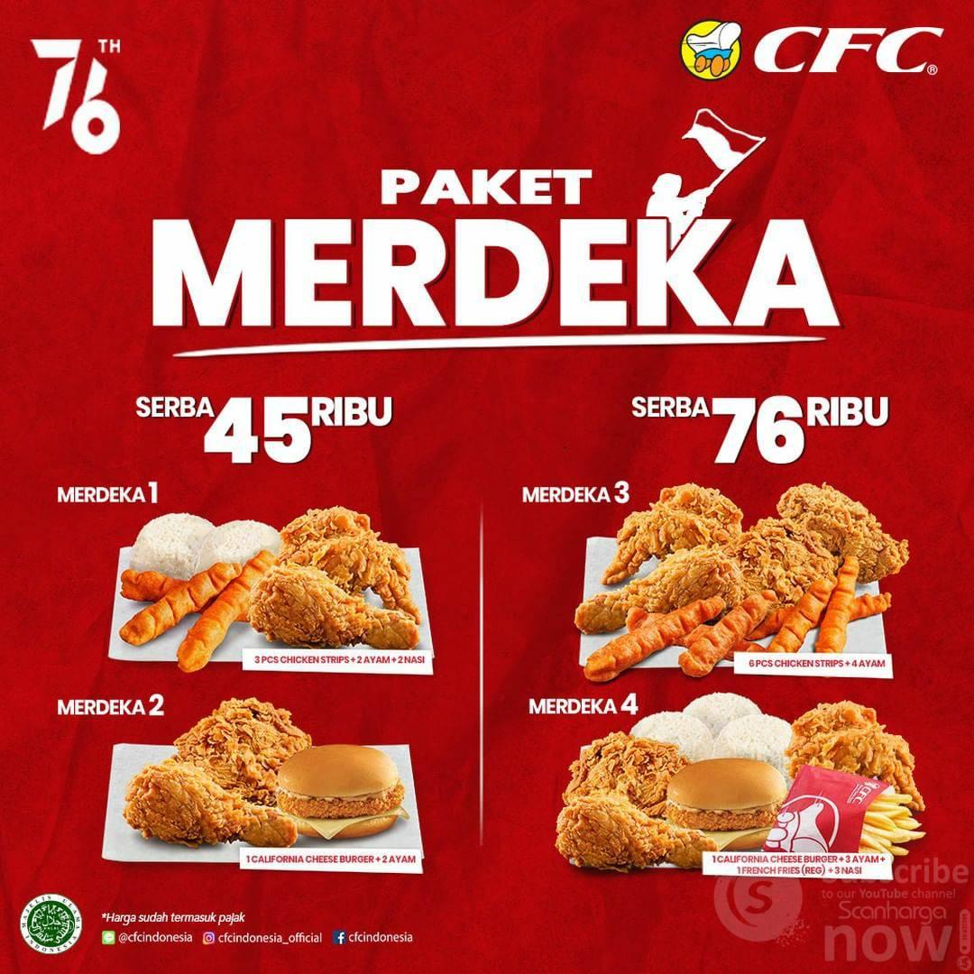 CFC Promo Paket Merdeka Harga (Serba 45Ribu & 76 Ribu)