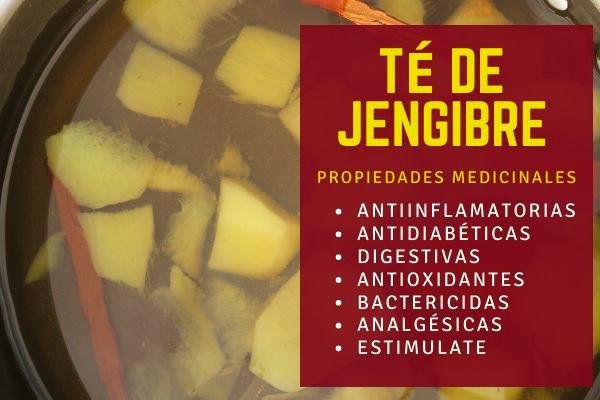 Las propiedades del té de jengibre vienen dadas por el gingerol principal compuesto bioactivo