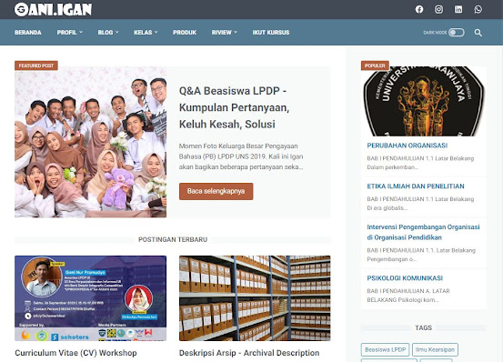 offisial website gani nur pramudyo 2020