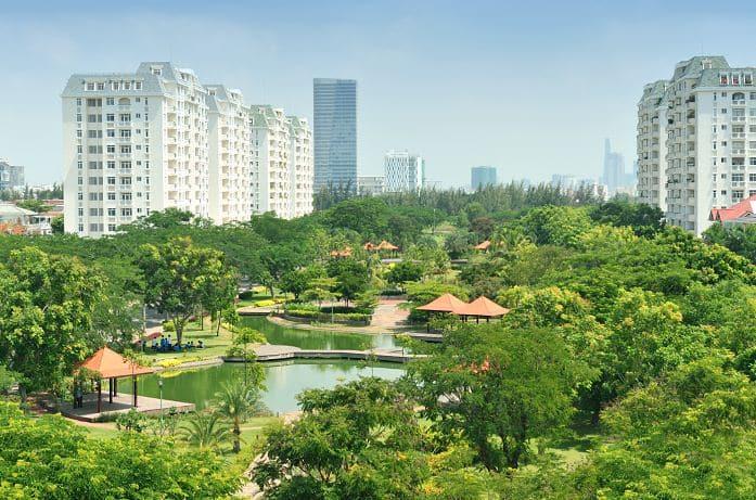 Công viên Hương Tràm sát bên Dự án Eco Green