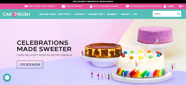 CakeRush Online Shop for Cakes and Desserts!