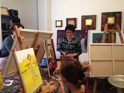 Les retrouvailles des artistes de l'atelier Artemisia 3