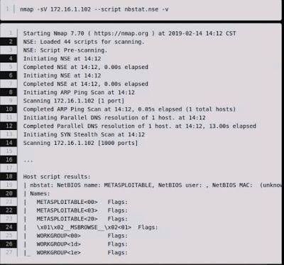 Nmap NetBIOS script