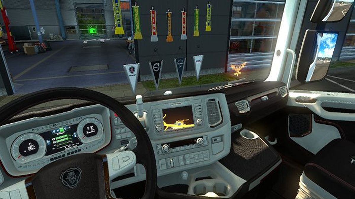 Scania 2016 Black and White Interior