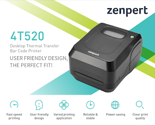 Zenpert 4T520 Barcode Label Printer 108mm Useful for all types of Label Printing Retail or Industrial requirements by TVS Electronics POS Guru