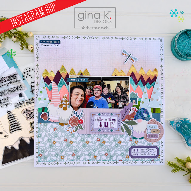 Gnome For The Holidays Instagram Hop-Therm O Web and Gina K Designs